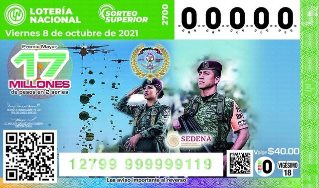 Lotería Nacional Lista de Ganadores del Sorteo Superior No. 2700 que se jugo el Viernes 8 de Octubre del 2021