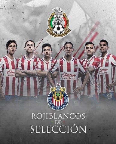 Jugadores de Chivas que fueron convocados a la Selección Mexicana