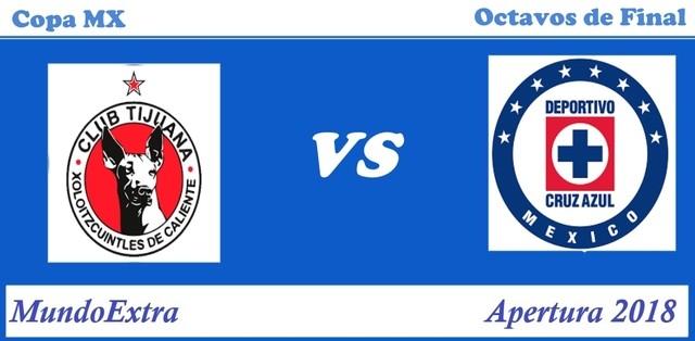 Xolos de Tijuana vs Cruz Azul – Copa MX – Transmisión por TV, fecha y hora