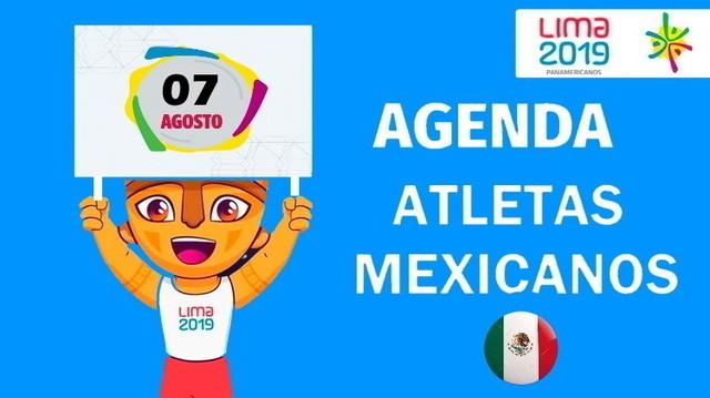 Actividad de Mexicanos en Juegos Panamericanos Lima 2019 – Miércoles 7 de Agosto de 2019