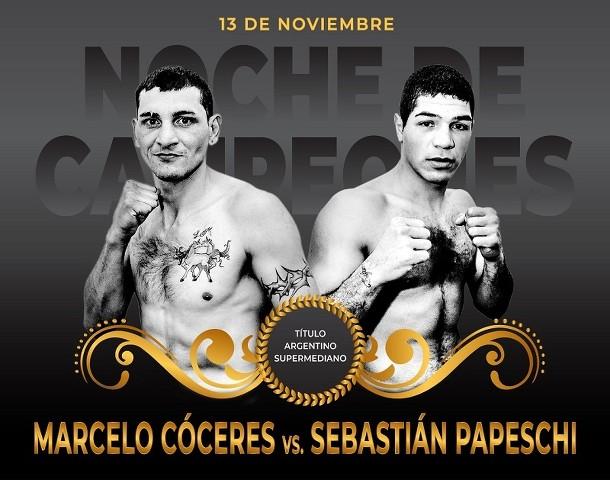 Marcelo Esteban Coceres vs Sebastian Horacio Papeschi en Vivo – Box – Sábado 23 de Enero del 2021