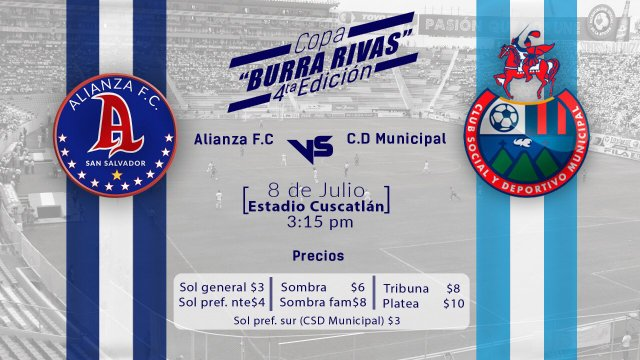 Alianza vs Municipal en Vivo – Partido Amistoso – Domingo 8 de Julio del 2018