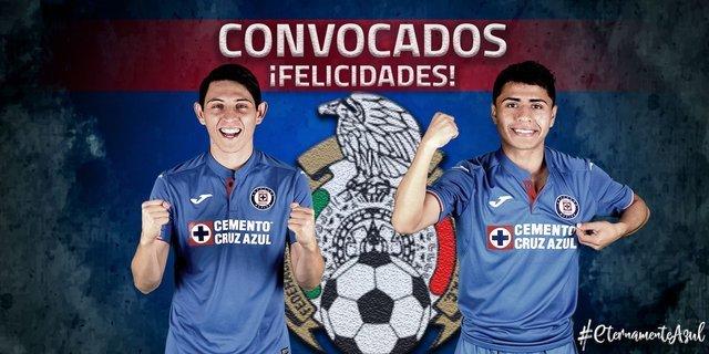 Cruz Azul felicita  a sus jugadores convocados