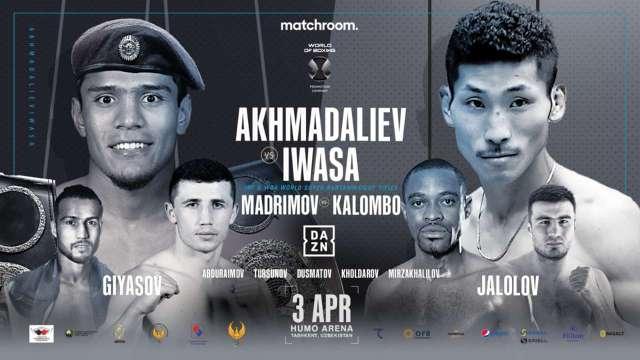 Murodjon 'MJ' Akhmadaliev vs Ryosuke Iwasa en Vivo – Box – Sábado 3 de Abril del 2021