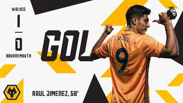 Golazo de Raúl Jiménez en el Wolves vs Bournemouth (Video)