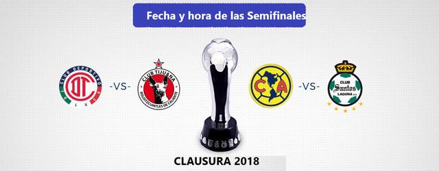 Fecha y Hora de las semifinales de Clausura 2018