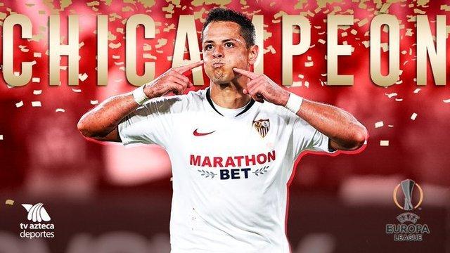 Javier «Chicharito» Hernández es campeón de la Europa League