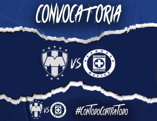 Convocatoria de Cruz Azul para enfrentar a Rayados de Monterrey