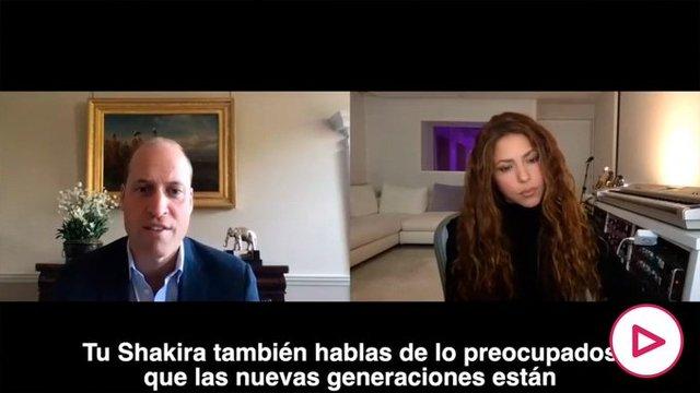 Conversación entre Shakira y el príncipe Guillermo de Inglaterra