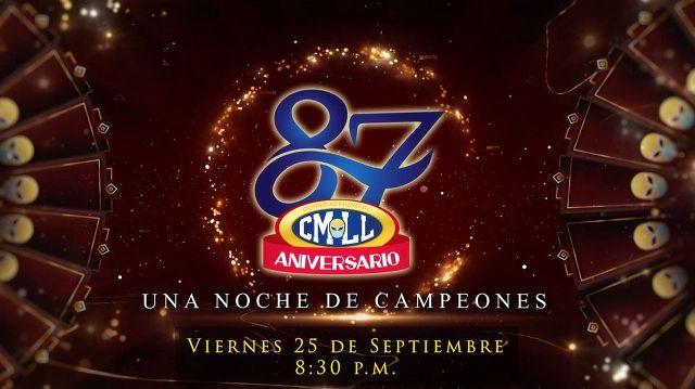 Lucha 87 Aniversario CMLL en Vivo – «Noche de Campeones» – Viernes 25 de Septiembre del 2020