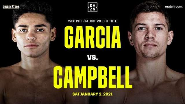 Ryan Garcia vs Luke Campbell en Vivo – Box – Sábado 2 de Enero del 2021