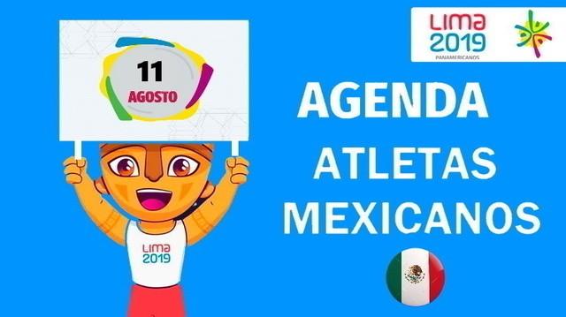 Actividad de Mexicanos en Juegos Panamericanos Lima 2019 – 11 de Agosto de 2019