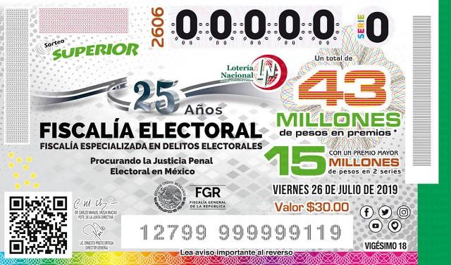 Lotería Nacional Sorteo Superior 2606 en Vivo – Viernes 26 de Julio del 2019