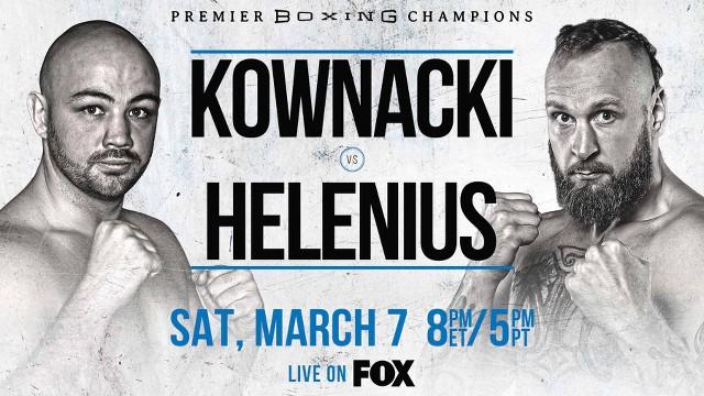 Adam Kownacki vs Robert Helenius en Vivo – Box – Sábado 7 de Marzo del 2020