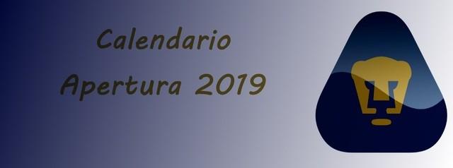 Calendario de Pumas para el Apertura 2019