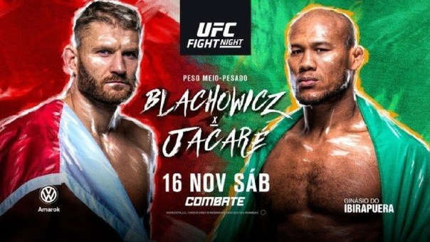 UFC Fight Night 164 en Vivo – Jan Blachowicz vs Ronaldo 'Jacare' Souza – Sábado 16 de Noviembre del 2019