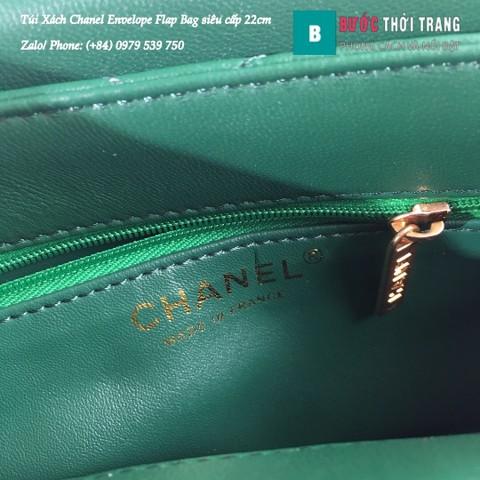 Túi Xách Chanel Envelope Flap Bag siêu cấp màu xanh lá 22cm - A57431