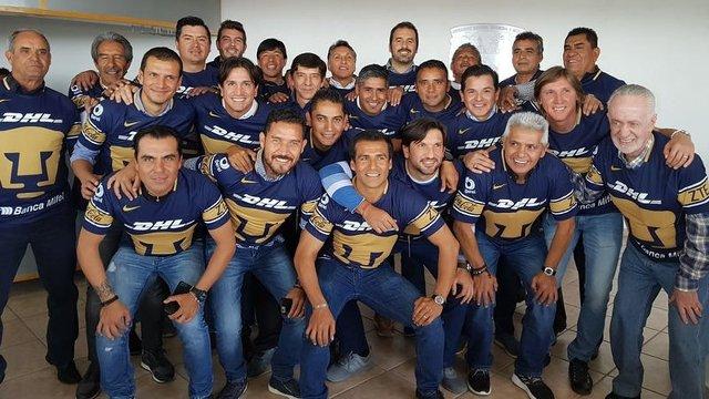 Ex Jugadores de Pumas se reunieron a ver el clásico joven