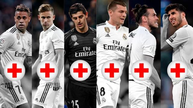 El Real Madrid parece hospital