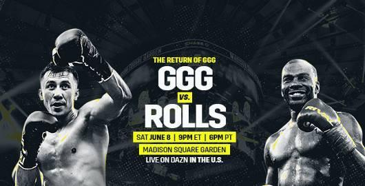 Gennady Golovkin vs Steve Rolls en Vivo – Box – Sábado 8 de Junio del 2019