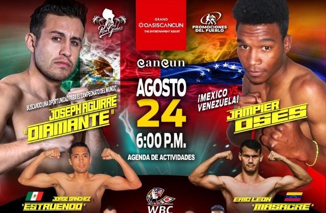 "Joseph ""Diamante"" Aguirre vs Jampier Oses en Vivo – Box – Sábado 24 de Agosto del 2019"