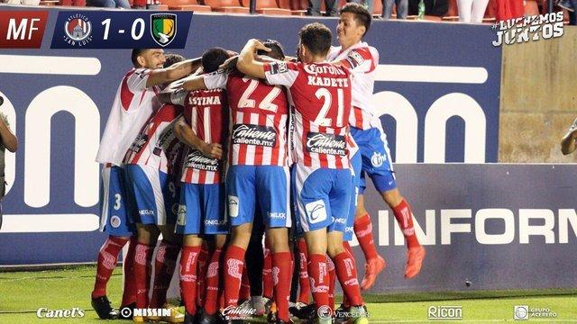 Resultado Atlético San Luis vs Venados en Jornada 3 del Apertura 2018