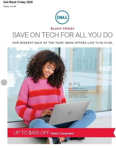 Ofertas de Dell de Viernes Negro 2020