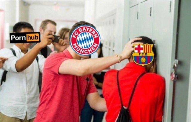 Meme 14 del Barcelona 2-8 Bayern Munich en la Champions League