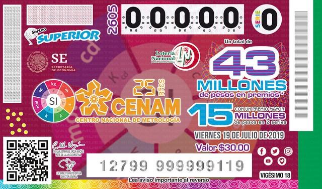 Loteria Nacional Sorteo Superior No. 2605 en Vivo – Viernes 19 de Julio del 2019