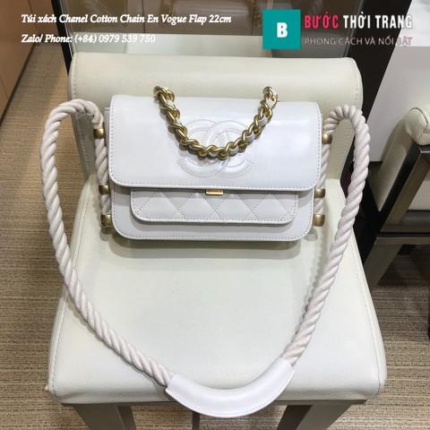 Túi Xách Chanel Cotton Chain En Vogue Flap 22cm - AS0074