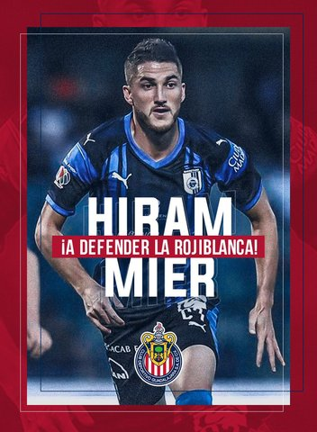 Oficial Hiram Mier es jugador de Chivas