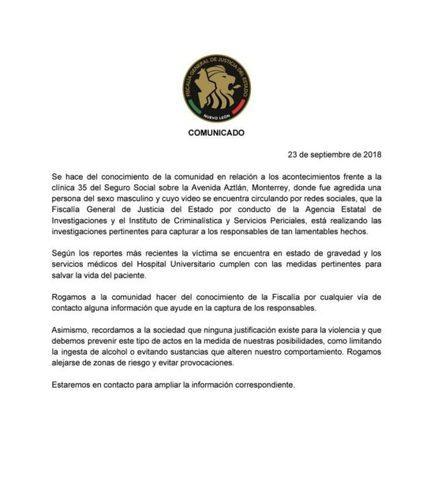 FEMEXFUT y la Fiscalía emiten comunicado sobre lo sucedido en Monterrey