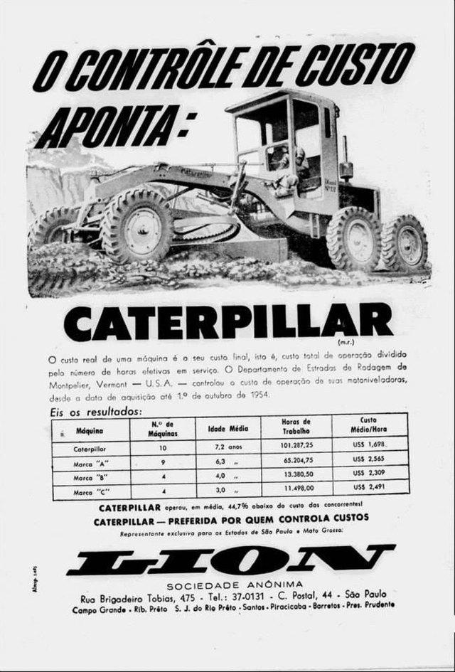 O controle de custos aponta a Caterpillar como a preferida por quem controla custos.