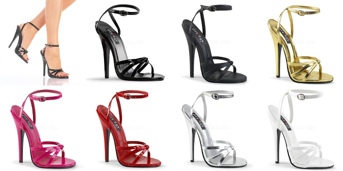 9505eed477855 Details about DEVIOUS Domina-108 Sexy Fetish Strappy Dress Sandals Drag 6