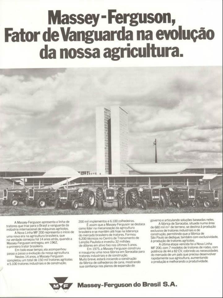 Massey-Ferguson, Fator de Vanguarda na evolução da nossa agricultura.