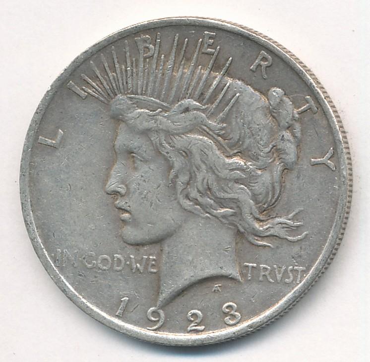 1923 one dollar coin value