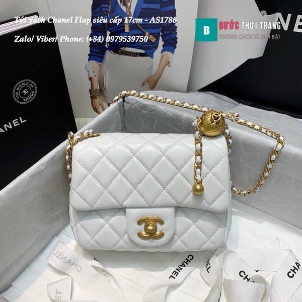Túi Xách Chanel Flap Bag siêu cấp da cừu màu trắng size 17cm - AS1786