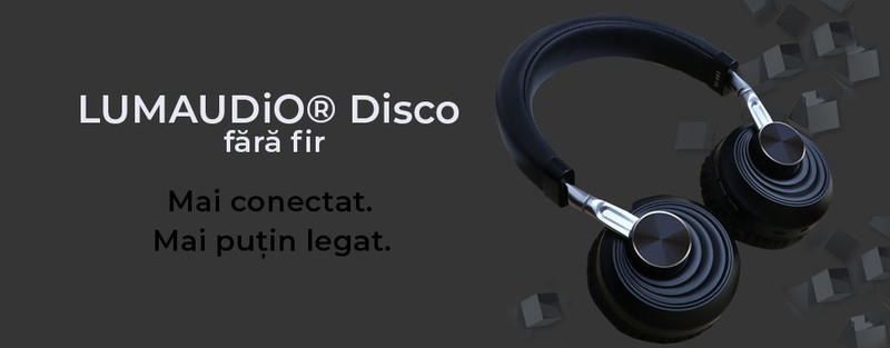 Casti Bluetooth LUMAUDiO® Disco - Flexibile si practice