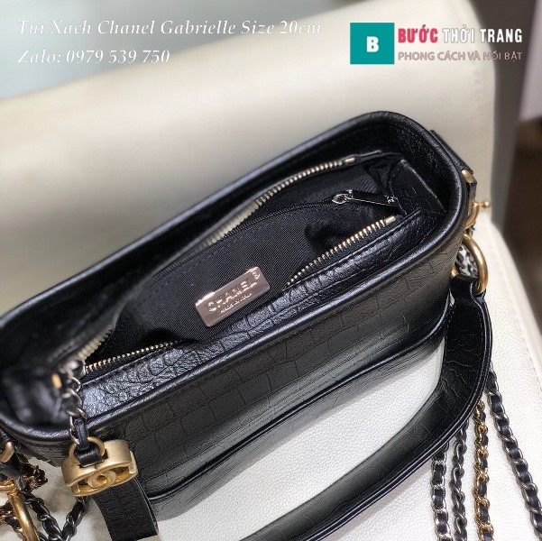 Túi xách Chanel Gabrielle siêu cấp size 20cm màu đen - A08022