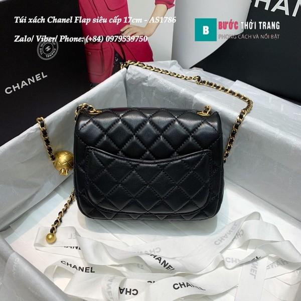 Túi Xách Chanel Flap Bag siêu cấp da cừu màu đen size 17cm - AS1786