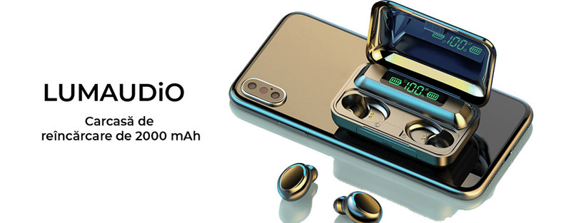 Casti Bluetooth LumAudio® Digital - Autonomie de lunga durata
