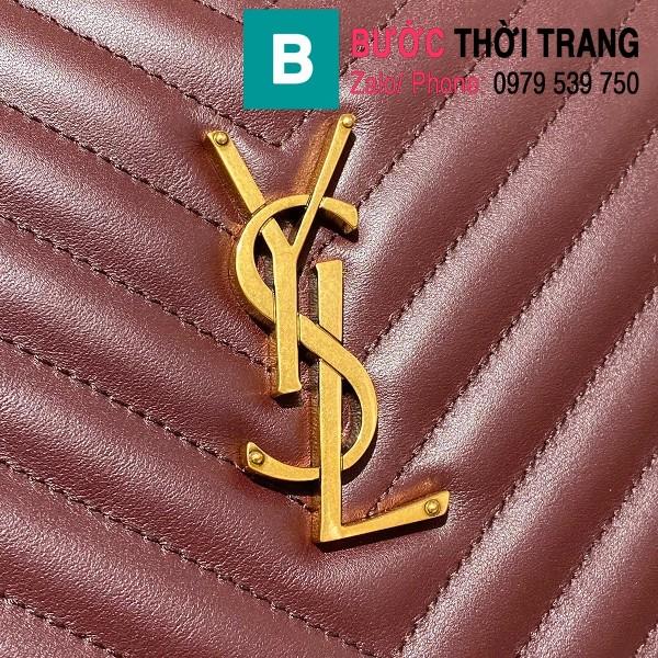 Túi đeo chéo YSL Saint Laurernt Lou siêu cấp da bê màu đỏ đô size 23cm - 520534