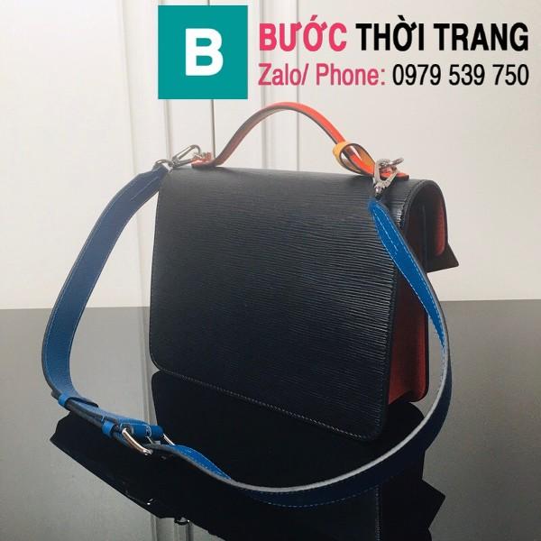 Túi xách LV Louis Vuitton Neo Monceau siêu cấp da bò sần màu đen size 22cm - M55405