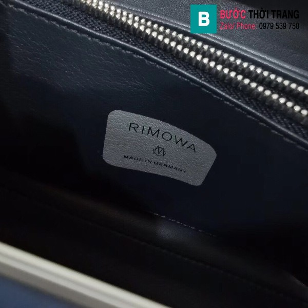 Túi xách Dior rimowa siêu cấp da bê màu nhôm xanh size 20 cm