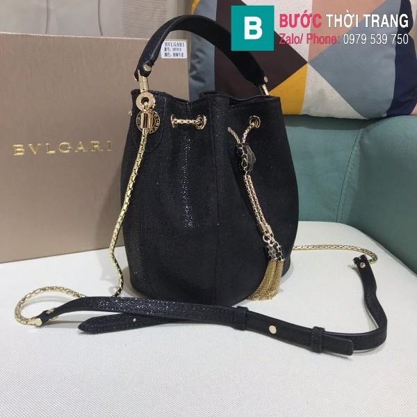 Túi Bvlgari Serventi Forever Bucket bag siêu cấp da kakung màu 6 size 16cm - B287641
