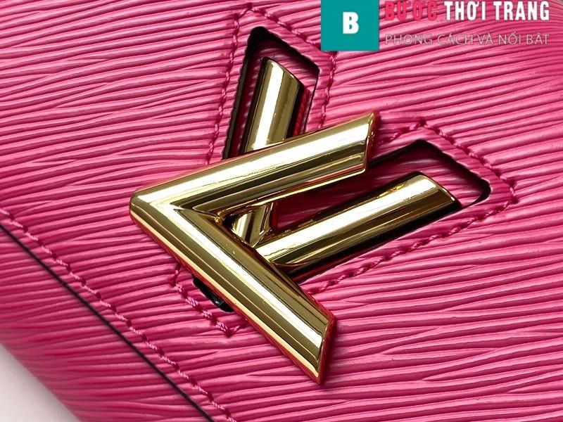 Túi xách Louis Vuitton Epi leather Twist Mini Handbags siêu cấp màu hồng size 15.5 cm - M57063