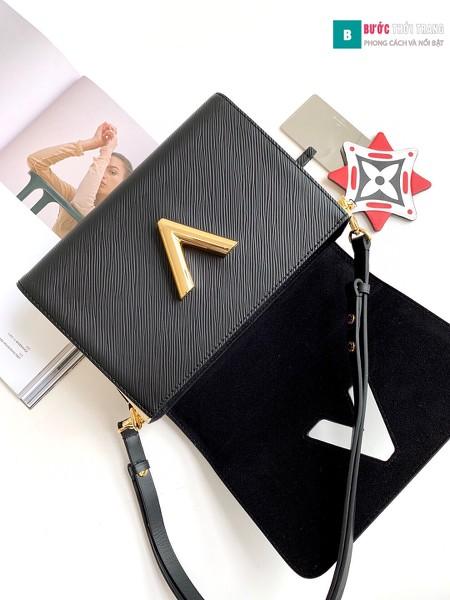 Túi xách Louis Vuitton Crafty Twist MM siêu cấp màu đen size 23 cm - M56780