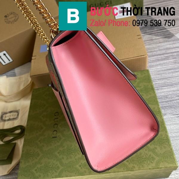 Túi xách Gucci Tian Padlock Shoulder bag siêu cấp màu be hồng size 30cm - 409486