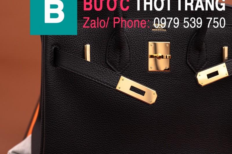 Túi xách Hermes Birkin siêu cấp da bê Togo màu đen size 30cm