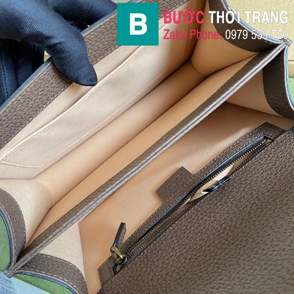 Túi xách Gucci Ophidia small top handle bag siêu cấp casvan màu nâu size 25cm - 651055